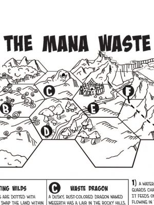 The Mana Waste - a hex crawl map featuring a mushroom forest, untamed magical wilds and more!